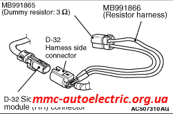 Code No B1C2D Right side-airbag module (squib) system (open circuit